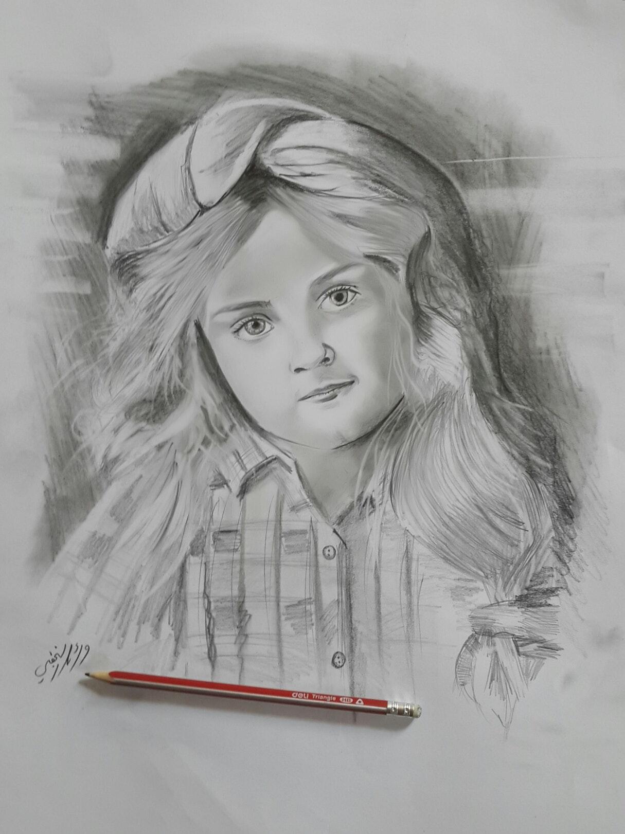 رسمي بالقلم الرصاص اول مشاركة لي معكم