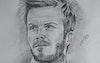 من الارشيف رسمه بالرصاص لديفيد بيكهام