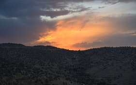 نهاية غروب الشمس