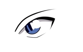 How to Draw Detective Conan's Eye