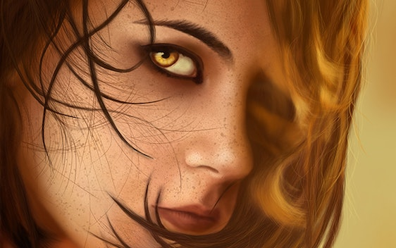 Girl with golden eyes