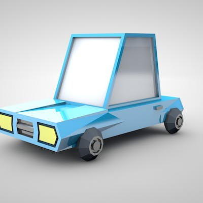 3D car low poly