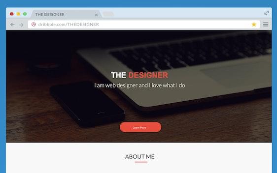 THE DESIGNER WEB DESIGN TEMPLATE
