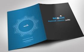 Simple Blue & Black Folder