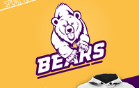 Bears : sport team logo design