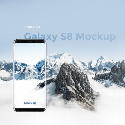 Free PSD : Samsung Galaxy S8 Mockup PSD