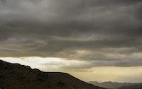 الغروب وكثافة الغيوم