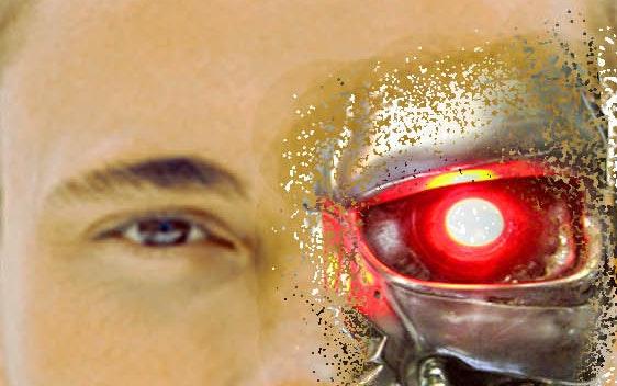 دمج وجه المدمر ..terminator face