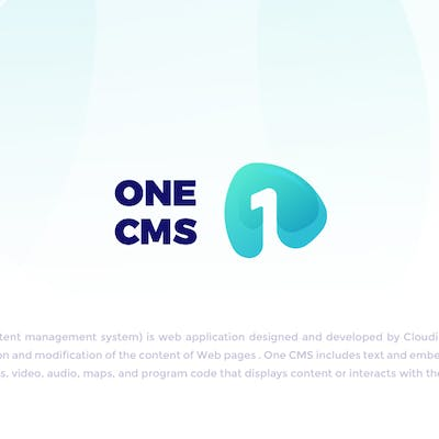 One Cms Landing page UI/UX