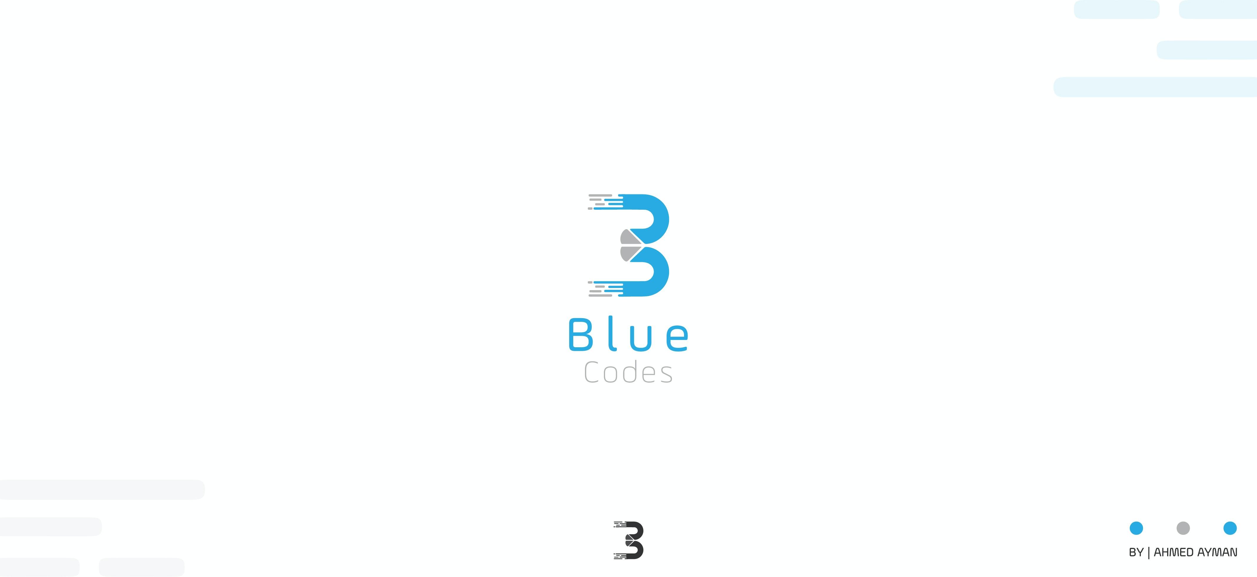 لوجو شركة - BLUE CODES -المختصة في التصميم