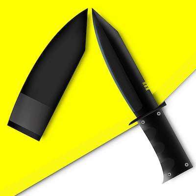 تصميم فني صناعي لسكين من الصفر