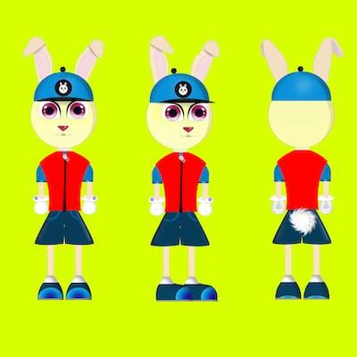 رسم وتصميم شخصية الأرنب الخاصة بقصة أطفال