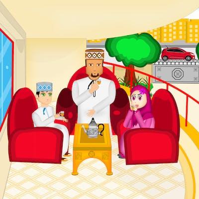 تصميم ورسم شخصيات ومشاهد قصة للأطفال