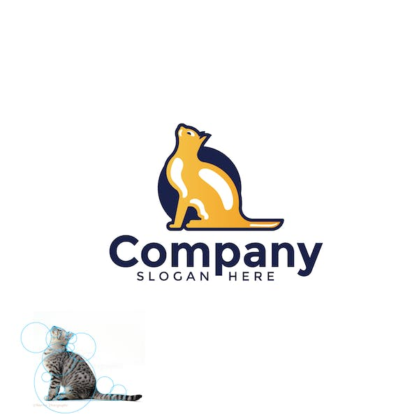 Cat logo from real image