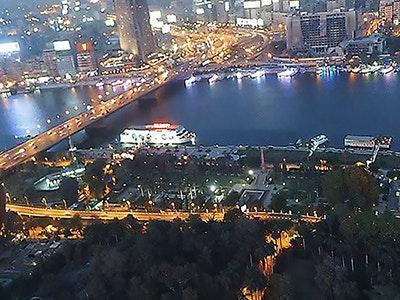 نهر النيل - اللقطة ماخوذة من برج القاهرة