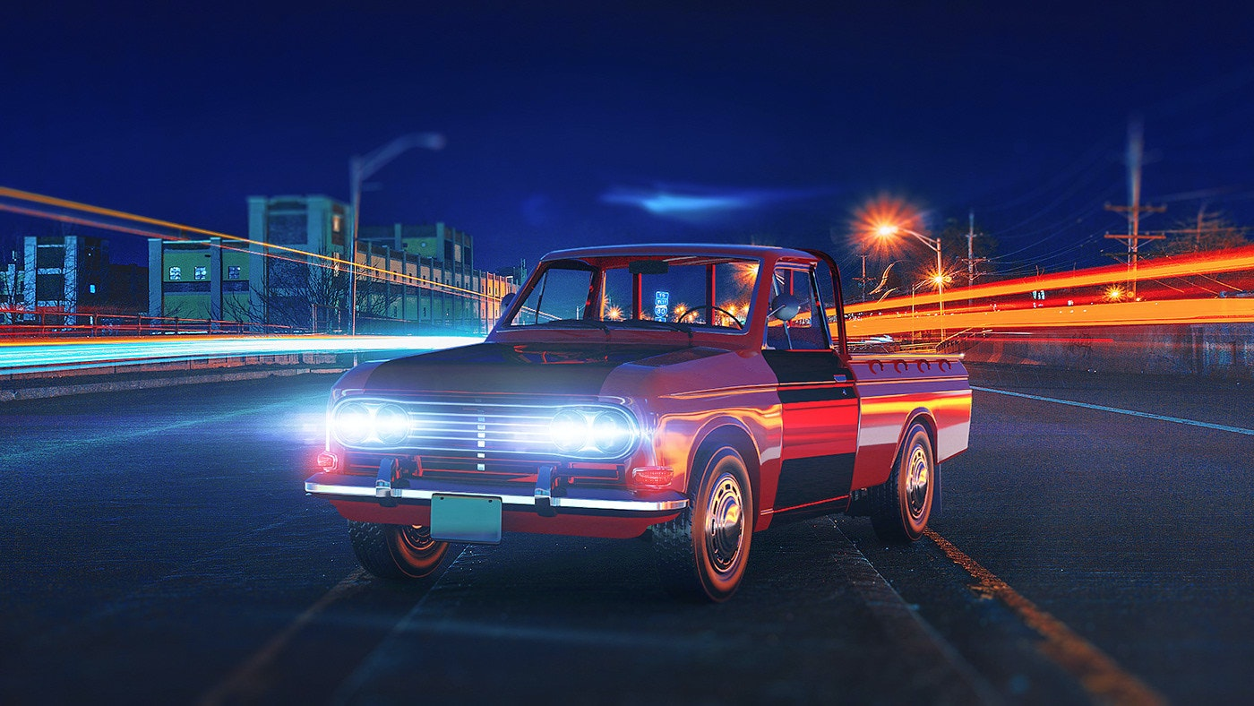 Mini Pickup Truck - Adobe Dimension
