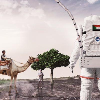 رجل فضاء في السودان