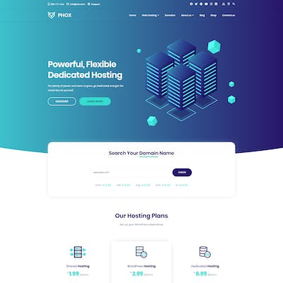 Phox - Responsive Hosting WordPress Theme