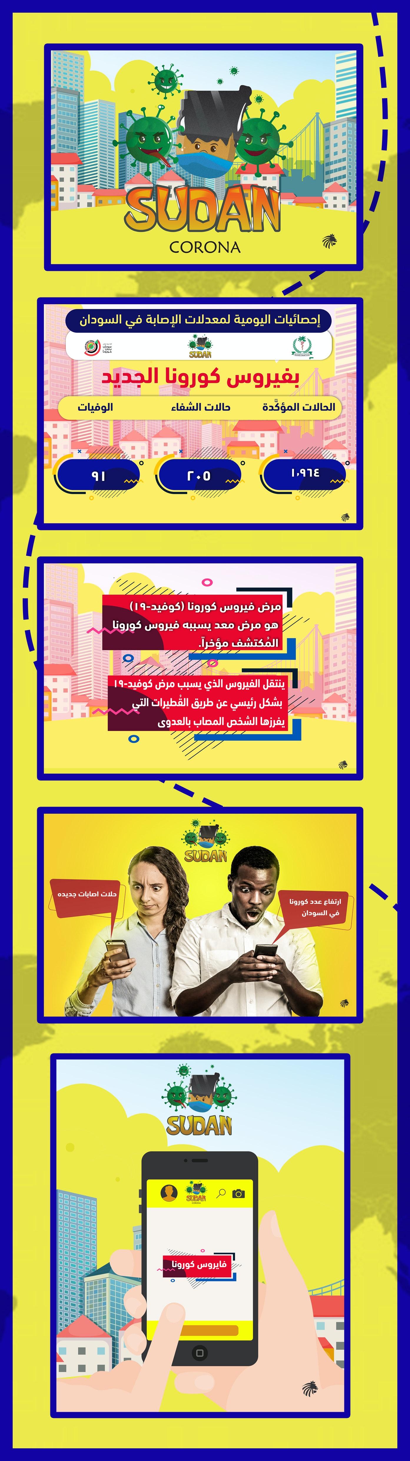 تطبيق احصائات كورنا داخل السودان