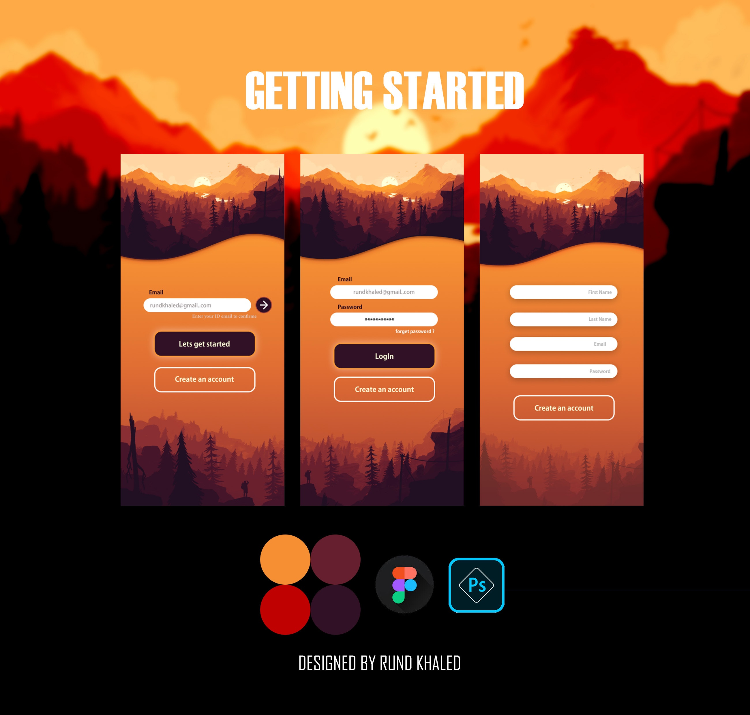 getting started app page