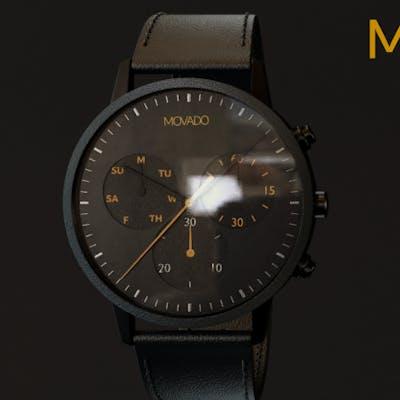 ساعة blender ) Movado )