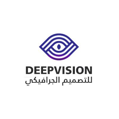 شعار رؤية عميقة لصفحتي الخاصة بالتصميم